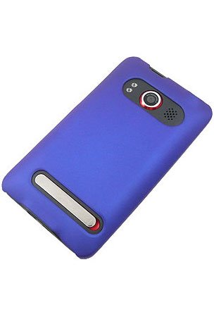 GTMax Blue Rubberized Case For HTC EVO 4G Cell Phone
