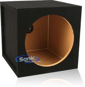 "Single 12"" Sealed Mdf Subwoofer Enclosure (Belva Mdfs12) 12-Inch Sealed Car Sub Box Made With 3/4"" Mdf And Lined W/ Polyfil (1.0 Cu Ft Airspace 12Sqtc)"