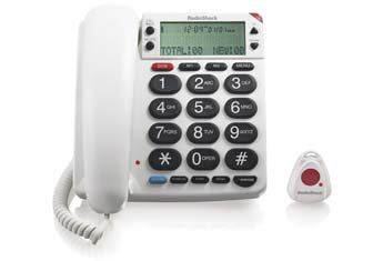 Remote Dialing/answering Corded Telephone with Remote Answering Pendant