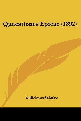 Quaestiones Epicae (1892)