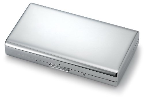 Brilliant Chrome Modern Cigarette Case (For King Size & 100's) #62