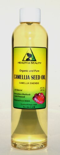 Camellia / Camelia Seed Organic Carrier Oil Cold Pressed 100% Pure 8 oz