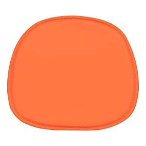 eames dsw dsr dss style faux leather seat pad colour orange