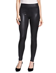 M&S Collection Full Length Wet Look Faux Leather Leggings