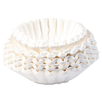 3 Pack Commercial Coffee Filters, 12-Cup Size, 1000 Filters/Carton by BUNN-O-MATIC (Catalog Category: Office Maintenance, Janitorial & Lunchroom / Food & Beverage / Supplies/Accessories)