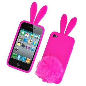 Amazon.com: Bunny Skin Case With Furry Tail for Apple