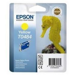 Epson T0484 - Cartouche d'impression - 1 x jaune - 430 pages - emballage coque avec alarme radioélectrique
