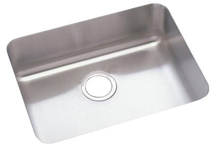 Elkay ELU2115   Gourmet Lustertone Undermount Sink, Stainless Steel, Lustertone Satin, Single-Bowl