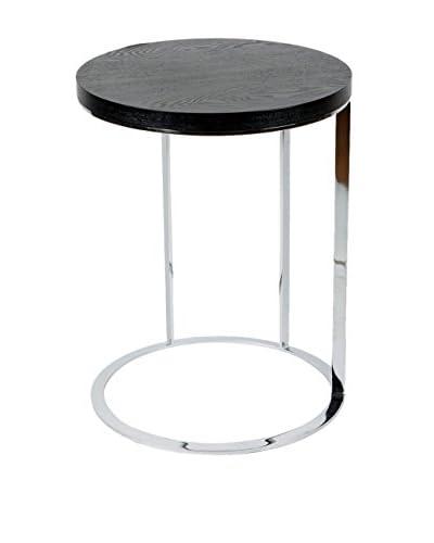 Whiteline Julia Side Table, Black/Silver