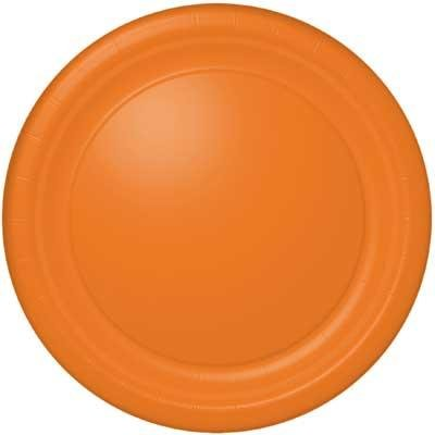 Orange Soda Banquet Plate 24 Count