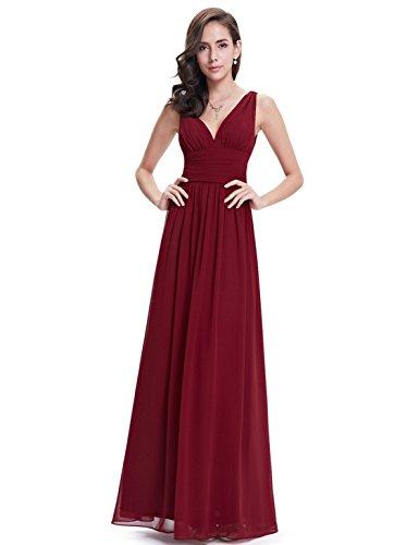 Ever Pretty Womens Empire Waist Sleeveless V Neck Evening Party Dress 16 US Red