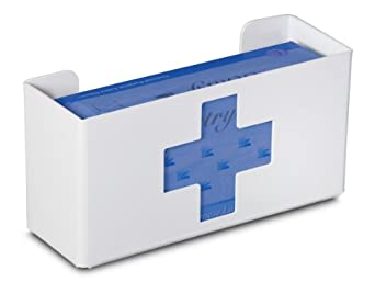 "TrippNT 51047 Priced Right Single Glove Box Holder with Medical Cross, 11"" Width x 6"" Height x 4"" Depth"
