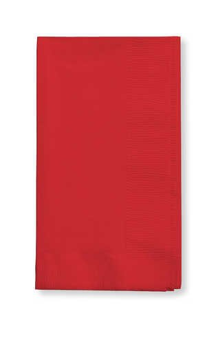 Creative Converting Value Pack Paper Dinner Napkins, Classic Red, 75 Count