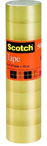 Scotch 5081910 Nastro da 19 mm x 10 m, Confezione da 8 Pezzi