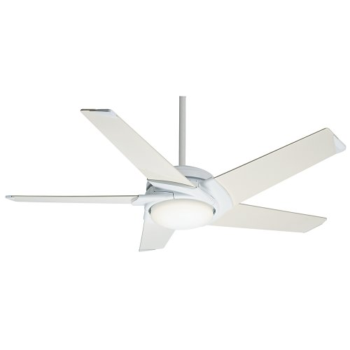 Casablanca Fan Company 59105 Stealth DC 54-Inch Snow White Celing Fan with Five Snow White Blades and a Light Kit
