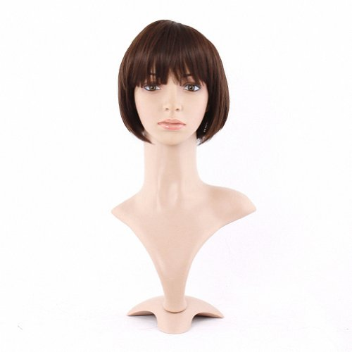 Taobaopit Beautiful Brown Ladies Short-length Synthetic Straight Wigs Hairpieces Hair Extensions