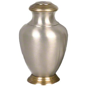Elegant, High Quality Arcadia Pewter Pet Memorial Urn - Medium