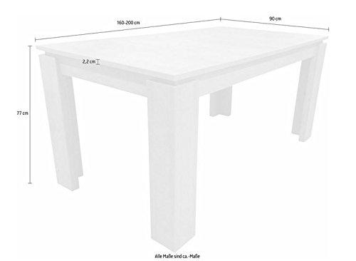 Trendteam ET16269 Esstisch Wohnzimmertisch Tisch Esche