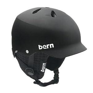 Bern Watts EPS Helmet,S/M,Matte Black w/Black Knit Liner