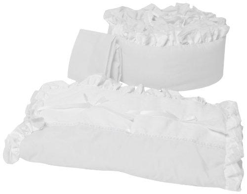 Baby Doll Bedding Regal Port-a-Crib Bedding Set, White