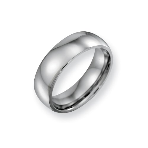 Cobalt Chromium Polished 7mm Band, Size 10