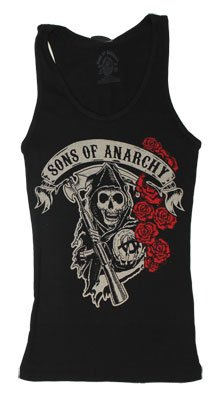 Rose Reaper - Sons Of Anarchy Women's Tank Top: Junior Small - Black