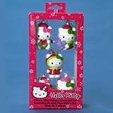 2'' Resin Hello Kitty Miniature Christmas 5 pc Ornaments Set