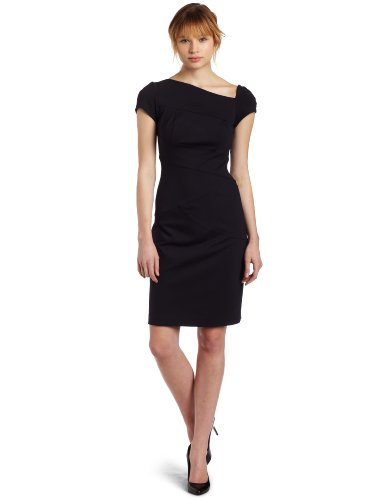 Donna Morgan Womens Asymmetrical Neckline Dress