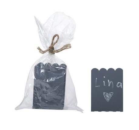 Set of 8 Mini Chalkboard Stands-Wedding Place Cards- Food & Beverage Markers - 1