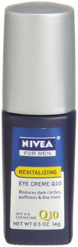 Nivea for Men Face Care Revitalizing Eye Roller Gel Q10, .5-Ounce Bottles (Pack of 3)