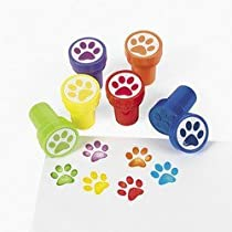 24 Paw Print Stampers by Fun Express