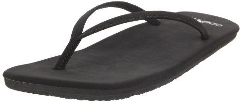 Womens Black Flip Flops front-480439
