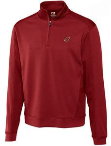 Arizona Cardinals Jacket Mens Drytec Edge Half Zip Pullover Cardinal Red by Cutter & Buck