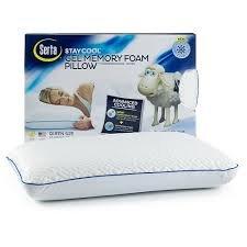 serta-stay-cool-gel-memory-foam-pillow
