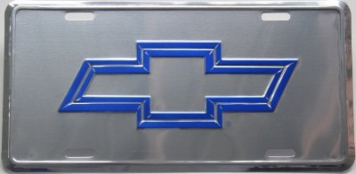 Chevy Blue Chrome Look Chevrolet Truck Diesel Tag Auto License Plate (Chevy Diesel Truck compare prices)