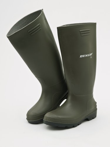 Green Dunlop Wellingtons UK 12
