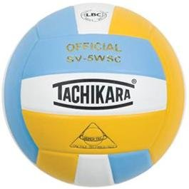 Tachikara Composite Volleyball - Sensi-Tec SV-5WSC, Colored Color: Powder Blue/white/gold