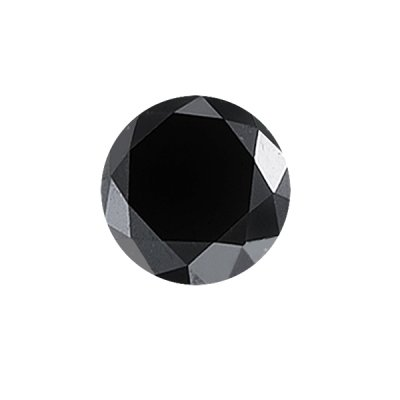 0.17-0.21 Cts of 3.36-3.45 mm AAA Round ( 1 pc ) Loose Black Diamond