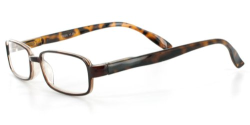 Ambassador R302S Square Fashion Reading Glasses with Modern Tortoise Rims for Youthful Men & Women Who Read in Style Amber +2.75