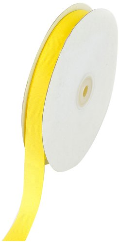 Cheapest Prices! Creative Ideas 50-Yard Solid Grosgrain Ribbon, 5/8-Inch, Canary Yellow
