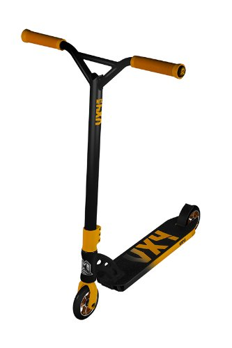 Madd Gear VX4 Nitro Scooter, Black/Yellow, 4.5-Inch Deck