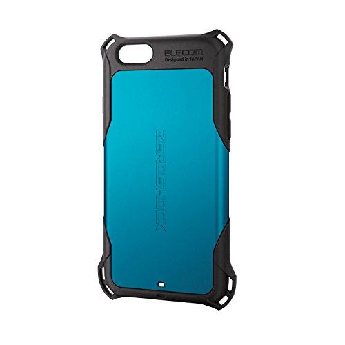 ELECOM iPhone6S iPhone6 ZEROSHOCKケース ブルー PM-A15ZEROBU
