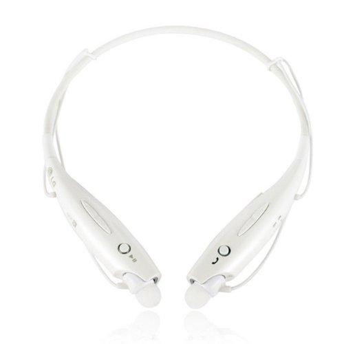 Nuoya001 White Wireless Bluetooth Headset Earphone Stereo For Cellphone Laptop Tablet