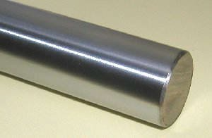 "Linear Motion 6 mm Shaft, 30"" Length, Chrome Plated, Case Hardened, Metric"