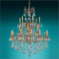 Crystorama Ornate Cast Brass Chandelier Accented with Golden Teak Strass Crystal - Olde Brass