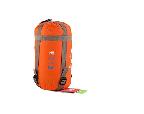 NatureHike-NH 軽量 封筒型 シュラフ 寝袋 キャンプ アウトドア 最低使用温度9度 ・同モデルの同サイズであれば、連結可能 (オレンジ)