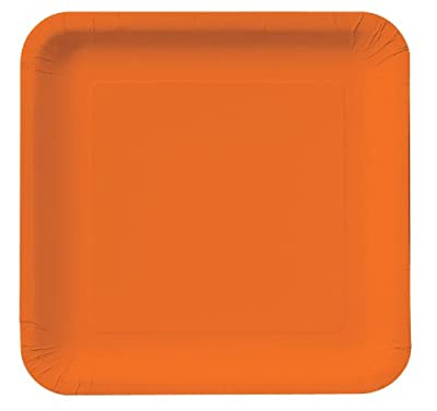 Sunkissed Orange (Orange) Square Dinner Plates (18) from Creative Converting