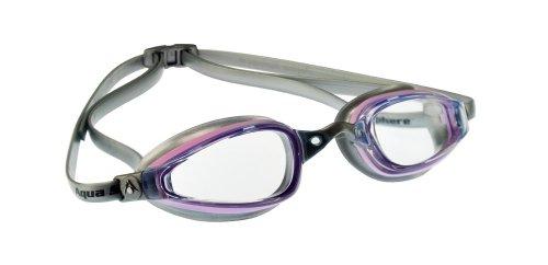 Schwimmbrille K180 Taucherbrille Aquasport pink/transparent, klar