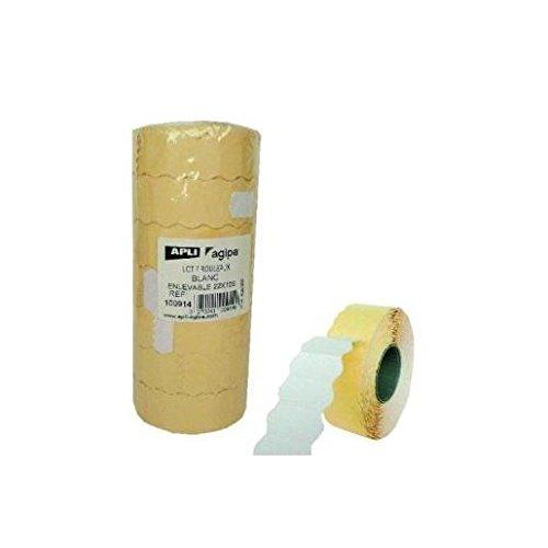 AGIPA Lot de 7 rouleaux 1500 Etiquettes pince à marquer 22x12 mm enlevables Blanc