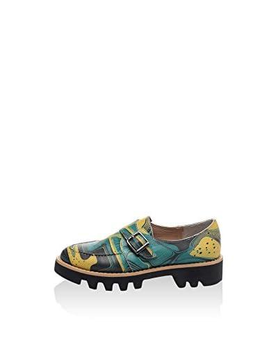 Isabelle Jaquelin Zapatos Monkstrap Gr33N Verde